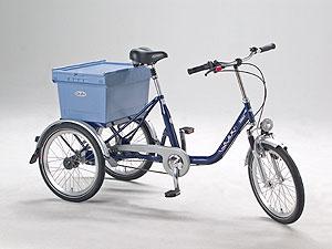 Quix BikeBalance mit Sonderzubehör: Federgabel, gefederte Sattelstütze, Industriebox